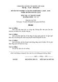 Đề thi & đáp án lý thuyết Hướng dẫn du lịch năm 2012 (Mã đề LT14)