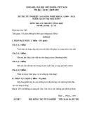 Đề thi & đáp án lý thuyết Quản trị nhà hàng năm 2012 (Mã đề LT2)