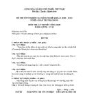 Đề thi & đáp án lý thuyết Quản trị nhà hàng năm 2012 (Mã đề LT3)