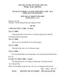 Đề thi & đáp án lý thuyết Quản trị nhà hàng năm 2012 (Mã đề LT13)