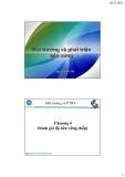 Bài giảng Môi trường và phát triển bền vững: Chương 4.2 - Nguyễn Quốc Phi