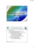 Bài giảng Môi trường và phát triển bền vững: Chương 5 - Nguyễn Quốc Phi