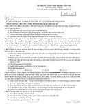 Đề thi thử Đại học môn Sinh học khối B năm 2014 (Mã đề 023)