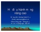 Bài giảng Hệ điều hành mạng nâng cao: Chương II - TS. Hoàng Xuân Dậu