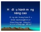Bài giảng Hệ điều hành mạng nâng cao: Chương IV - TS. Hoàng Xuân Dậu