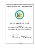 Báo cáo thực tập tốt nghiệp: Thực trạng huy động vốn tại ngân hàng TMCP Công thương Việt Nam – chi nhánh Quảng Nam