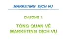 Bài giảng Marketing dịch vụ - Chương 1: Tổng quan về marketing dịch vụ