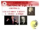 Bài giảng Chính sách thương mại quốc tế - Chương 2: Các lý thuyết bàn về lợi ích của TMQT