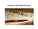 Bài giảng Pháp luật kinh doanh quốc tế: Chương 5 - ThS. Phạm Thị Diệp Hạnh