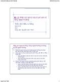 Bài giảng Thẩm định Đầu tư Công: Bài 13 - Nguyễn Xuân Thành