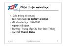 Bài giảng Kế toán thủ công - Hồ Thanh Thảo