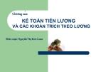 Bài giảng Kế toán tài chính: Chương 6 - Nguyễn Thị Kim Loan