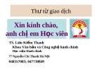 Bài giảng Văn bản quản lý hành chính Việt Nam: Thư từ giao dịch - TS. Lưu Kiếm Thanh