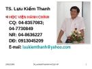 Bài giảng Văn bản quản lý hành chính Việt Nam: Những yêu cầu ngôn ngữ của văn bản hành chính  - TS. Lưu Kiếm Thanh