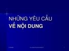 Bài giảng Văn bản quản lý hành chính Việt Nam: Những yêu cầu về nội dung - TS. Lưu Kiếm Thanh