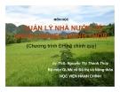 Bài giảng Quản lý nhà nước về nông nghiệp, nông thôn: Chương I - ThS. Nguyễn Thị Thanh Thủy