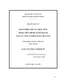Luận văn Thạc sĩ kinh tế: Hoàn thiện thủ tục phân tích trong tiến trình lập kế hoạch tại các công ty kiểm toán Việt Nam