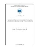 Luận văn thạc sĩ kinh tế: Kiểm soát tín dụng doanh nghiệp vừa và nhỏ tại ngân hàng TMCP Quân đội - chi nhánh Hồ Chí Minh