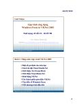 Bài giảng Lập trình ứng dụng Visualbasic: Bài 1 - Phạm Đình Sắc