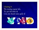 Bài giảng Kinh tế quốc tế - Chương 6: Thị trường ngoại hối, Tỷ giá hối đoái & Cán cân thanh toán quốc tế