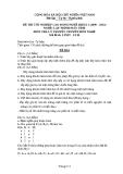 Đề thi & đáp án lý thuyết Lập trình máy tính năm 2012 (Mã đề LT9)