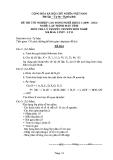 Đề thi & đáp án lý thuyết Lập trình máy tính năm 2012 (Mã đề LT11)