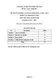 Đề thi thực hành Lập trình máy tính năm 2012 (Mã đề TH3)