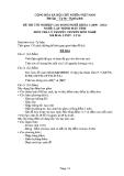 Đề thi & đáp án lý thuyết Lập trình máy tính năm 2012 (Mã đề LT16)