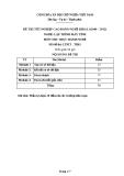 Đề thi thực hành Lập trình máy tính năm 2012 (Mã đề TH1)