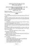 Đề thi & đáp án lý thuyết Lập trình máy tính năm 2012 (Mã đề LT2)