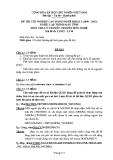 Đề thi & đáp án lý thuyết Lập trình máy tính năm 2012 (Mã đề LT40)