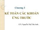 Bài giảng Kế toán doanh nghiệp: Chương 3 - Nguyễn Thị Vân Anh