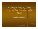 Thuyết trình: Khủng hoảng nợ ở Hy Lạp và Bài học cho Việt Nam