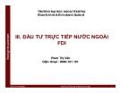 Bài giảng Đầu tư nước ngoài: Chương 3 - Phan Thị Vân