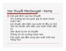 Bài giảng Học thuyết MacDougall –Kemp