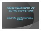 Thuyết trình Tài chính tiền tệ: Khủng hoảng nợ công Hy lạp bài học cho Việt Nam