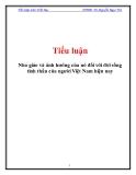 Tiểu luận Triết học: Nho giáo và ảnh hưởng của nó đối với đời sống tinh thần của người Việt Nam hiện nay