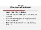 Bài giảng Điều hành hoạt động nhà hàng: Chương 1 - Nguyễn Sơn Tùng