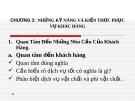 Bài giảng Điều hành hoạt động nhà hàng: Chương 3 - Nguyễn Sơn Tùng