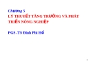 Bài giảng Kinh tế phát triển: Chương 5 - PGS .TS  Đinh Phi Hổ