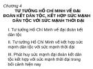 Bài giảng Tư tưởng Hồ Chí Minh: Chương 4 - ĐH Dân Lập Văn Lang
