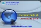Bài giảng Tài chính Quốc tế - Chương 8: Chu chuyển vốn Quốc tế