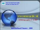 Bài giảng Tài chính Quốc tế - Chương 5: Arbitrage Quốc tế và IRP