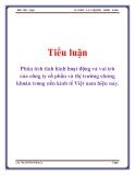Tiểu luận: Phân tích tình hình hoạt động và vai trò của công ty cổ phần và thị trường chứng khoán trong nền kinh tế Việt nam hiện nay