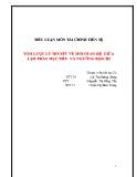 Tiểu luận Tài chính tiền tệ: Tóm lược lý thuyết về mối quan hệ giữa lạm phát mục tiêu và ngưỡng bội chi