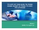 Thuyết trình: Tổ chức kế toán quản trị trong doanh nghiệp và trong tổ chức phi lợi nhuận
