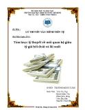 Tiểu luận Tài chính tiền tệ: Tóm lược lý thuyết về mối quan hệ giữa tỷ giá hối đoái và lãi suất