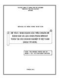 Tiểu luận Hệ thống thông tin kế toán: Nhận dạng các tiêu chuẩn để đánh giá và lựa chọn phần mềm kế toán tại các doanh nghiệp ở Việt Nam (hoặc Tp. HCM)