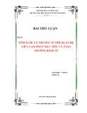 Tiểu luận: Tóm lược lý thuyết về mối quan hệ giữa lạm phát mục tiêu và tăng trưởng kinh tế