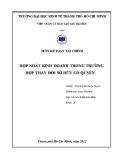 Tiểu luận Kế toán tài chính: Hợp nhất kinh doanh trong trường hợp thay đổi sở hữu cổ quyền
